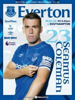 Everton v Southampton 09/07/20 Premier League Official Matchday Programme