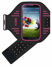 Skech Sport Lightweight Adjustable Armband for Samsung Galaxy S4/S5/S6/S7 Pink