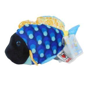 "Ganz Webkinz Lil Kinz Blue Triggerfish 4"" Plush Fish HS526 Sealed Code"