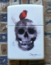 NOVELTY SPAZUK BIRD AND SKULL ZIPPO LIGHTER FREE P&P FREE FLINTS