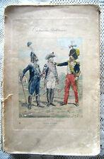 Costumes militares Divise Militari Francesi Louis XV a Napoleone tavole colori