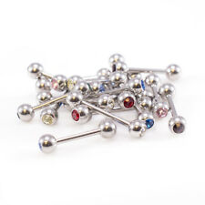 with two Jewels Mix of 9 jewels Straight Barbells package of 18 with 16g