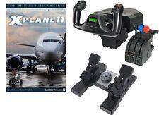 Deluxe Saitek Flight Simulator Bundle - X-Plane 11, Yoke & Throttle, and Rudders