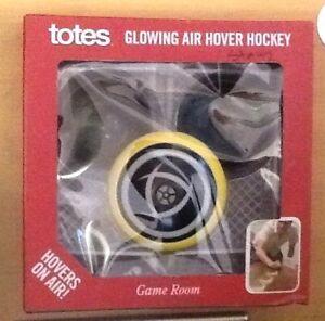 totes Glowing Air Hover Hockey Game Set