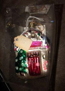 """A House that Love Built"" Old World Christmas Glass Ornament w/ OWC Box"