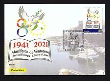 Italia 2021 : Manifesto di Ventotene  - Cartolina Ufficiale Poste Italiane