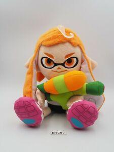 "Splatoon B1307 Orange GirI inkling Sanei 2015 Plush 9"" Toy Doll Japan Squid"