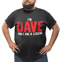 Dave T-Shirt The Legend Funny Gift for Men Novelty Mens T Shirt Birthday Black