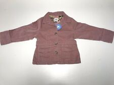Charabia New Girls PINK ROSE CORD FLAVIE JACKET COAT Sz: 5 RTL: $155 FL62B P326