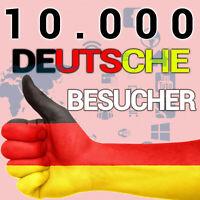 10000+ 10K Deutsche Webseiten-Besucher Website-Traffic Webprojekt Onlineshop