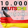 10000+ 10K Deutsche Webseiten-Besucher Website-Traffic Webprojekt Onlineshop