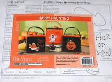"Halloween ""Happy Haunting"" Felt Treat Bags Kit - All 3 Designs NIP 6x6"" Ghost++"