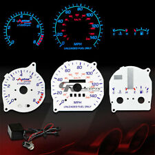 REVERSE WHITE DASH CLUSTER INDIGLO GLOW GAUGE 93-97 MAZDA MX-6/MX6 LS/BASE/RS AT
