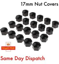 20x 17mm Black Nut Caps Covers Wheel Bolts + Removal Tool VW Audi BMW Mercedes