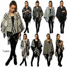 Ponchos Check Outdoor Coats & Jackets for Women