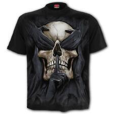 Spiral Direct SEE NO EVIL T-Shirt Black Grim Reaper/Skulls/Rock/Metal//Death/Tee
