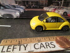 REALTOY Yellow VOLKSWAGEN NEW BEETLE CAR 1/64 - SCALE - LOOSE! NO BOX!