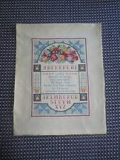 "Stamped Tinted RELIGIOUS PRAYER Cross Stitch ALPHABET SAMPLER - Design 10"" x 14"""
