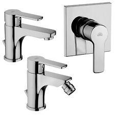 Paffoni set miscelatori rubinetti serie Red per lavabo bidet e doccia da incasso