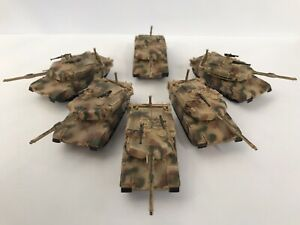 Dragon Cando 1/144 Platoon of 6 M1A1HA Abrams tanks, Low Price for Wargaming