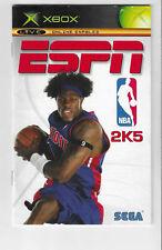 Xbox ESPN NBA 2K5 Manual ONLY Booklet