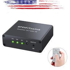 Toslink Switcher 3x1Toslink Optical Digital SPDIF Audio Switch w/Remote Control