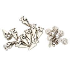10 Set Silver Screw Bullet Rivet Spike Studs Spots DIY Rock Punk 7x13mm Z2G8