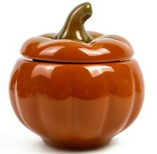 0.6 L Pumpkin Shaped Baking Stewing Stoneware Dish Clay Cooking Pot with Lid