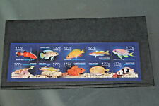 CURACAO - 2014 - DEEPWATER FISH - SET OF 10 IN SHEETLET - UNMOUNTED MINT