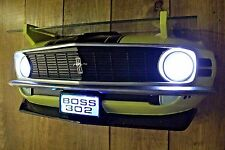 1970 Ford Boss Mustang Car Wall Decor Shelf -Headlights- Man Cave