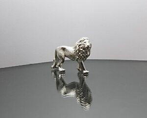 Solid Sterling Silver Detailed Lion Model Figurine Full UK Hallmarks