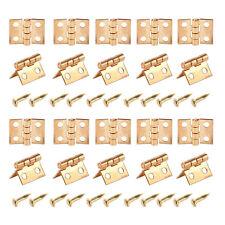 20pcs 1/12 Dollhouse Miniature Furniture Mini Metal Hinges with Screws
