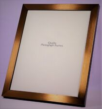 Narrow Brushed Bronzed/Copper Finish Picture/Photo Frame - Various sizes