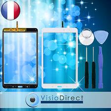 """Vitre ecran tactile pour Samsung Galaxy Tab Pro 8.4"""" T320 blanc +adhésif +outils"""