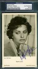 SOPHIA LOREN HAND SIGNED PSA/DNA PHOTO POSTCARD AUTHENTICATED AUTOGRAPH