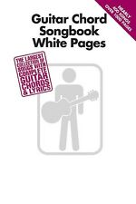 Guitar Chord Songbook White Pages Book *NEW* Lyrics & Chords Nearly 400 Songs