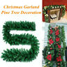 Christmas Rattan Garland Tree Hanging Fireplace Cane Home Garden Decor Ornaments