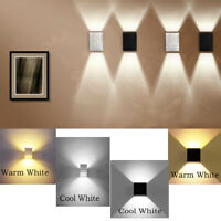 12W LED Wall Light Cube Up Down Lamp Sconce Spot Lighting Home Indoor Fixture