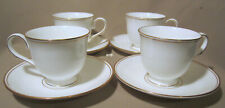Lenox Federal Gold Lot of 4 Cup & Saucer Sets NEW WITH TAGS
