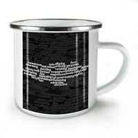 Beautiful NEW Enamel Tea Mug 10 oz | Wellcoda