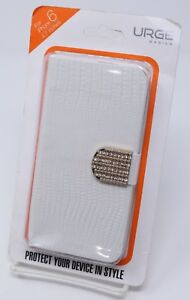 White Faux Alligator Skin iPhone 6 Wallet Case Rhinestone Clasp New Urge Basics