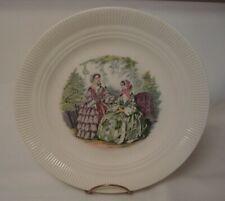 "RIBBED 10"" GODEY GIRLS DINNER PLATE Salem China Co"