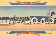 Arkansas postcard Little Rock Blue Haven Cottages