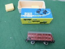 VINTAGE PIKO MODELLBAHN CATTLE WAGON IN HO/OO SCALE BOXED