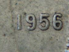 1956 DOT ten cents 10c  silver dime coin Canada,