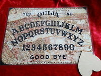 1800's Magic Old New York Ouija Board laminated sheet, Planchette fortune teller