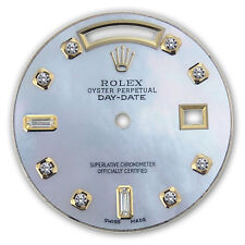 REFINED MENS Y-GOLD DAY-DATE WHITE MOP 8+2 DIAMOND DIAL FOR ROLEX-36
