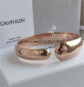 CALVIN KLEIN ROSE GOLD PLATED STAINLESS STEEL BANGLE BRACELET BNWT BOXED RRP £99