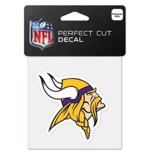 """Minnesota Vikings 4""""x4"""" Perfect Cut Car Decal [NEW] NFL Auto Sticker Emblem"""