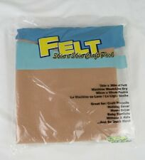 "New Tan Beige Nude Brown 1 Yard Felt Fabric 36""x36"" Free Shipping"